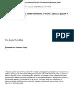 Strategii de Prevenire Si Inlaturare a Esecului Scolar in Invatamantul Gimnazial Studiu