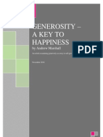 Generosity - A Key to Happiness