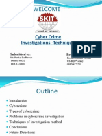 Ppt on Investigation Method of Cyber Crime