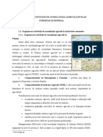 Organizarea Activitatii de Consultant A Agricola Pe Plan European Si Mondial