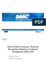 How to Defer Invoicing-Revenue Recognition Based on Customer Acceptance