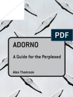 (Guides for the Perplexed)Alexander John Peter Thomson-Adorno a Guide for the Perplexed-Continuum International Publishing Group(2006)