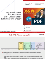 Open-E DSS V6 NAS NFS Failover Over a LAN With Unicast