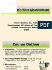 Lecture 1 Introduction Methods of Work Measurement 13 Feb