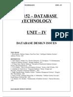 Cs9152 Dbt Unit IV Notes