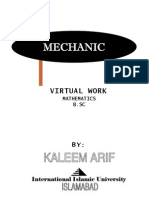 Mechanics Virtual Work Kaleem Arif