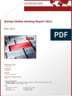 Brochure & Order Form_Europe Online Gaming Report 2012_by yStats.com