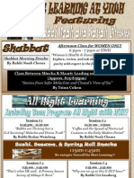 Shavuot Flyer 5772