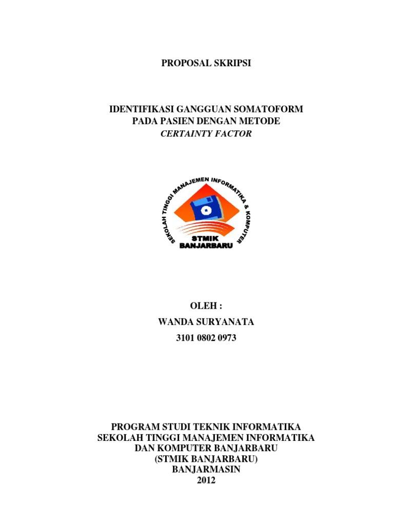 Proposal Ta Sistem Pakar Created By Wanda Suryanata