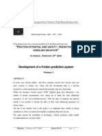 Development of a Friction Prediction System