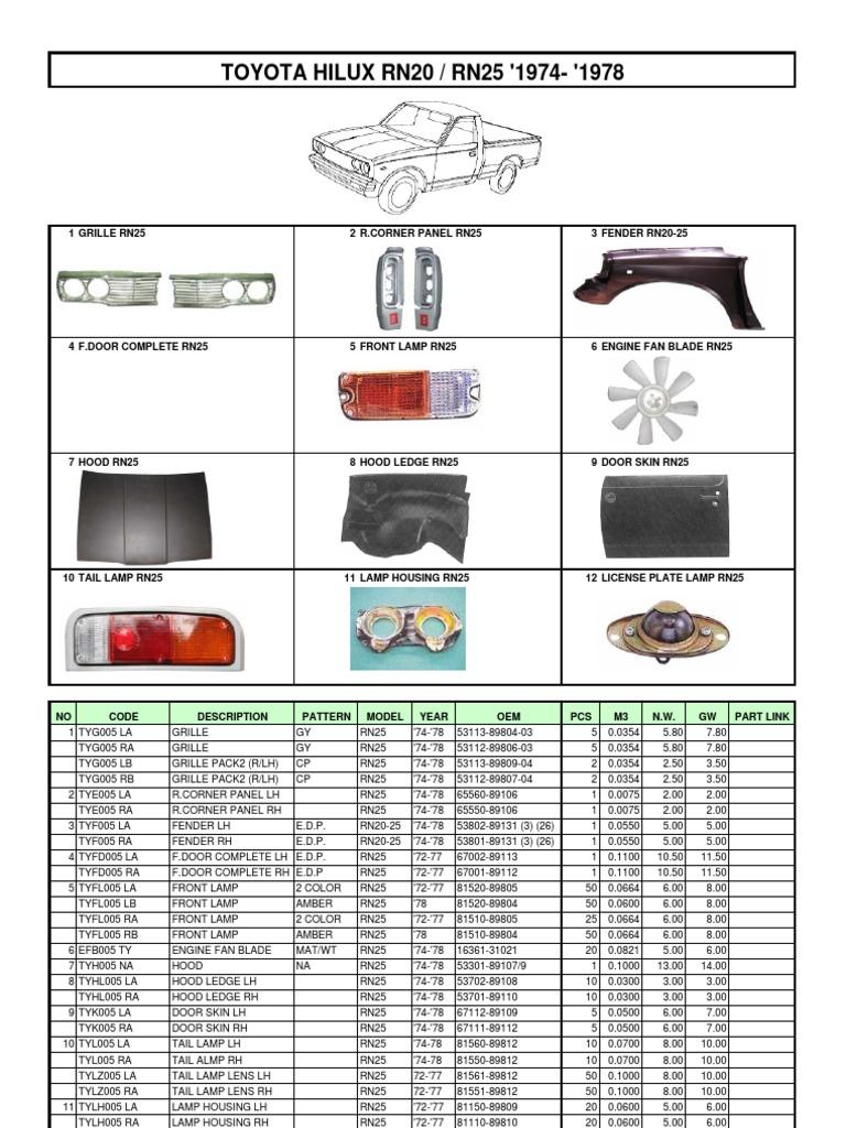 Catalogue Toyota