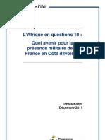 Quel avenir pour la présence militaire de la France en Côte d'Ivoire ?