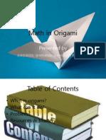 Math in Origami