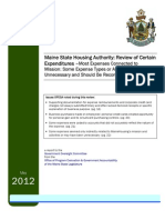 OPEGA Report on the Maine State Housng Authority