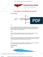 Aerodynamics and Theory of Flight, Forces of Flight, Lift, Weight, Thrust, Drag,