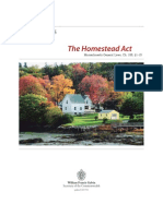 Homestead Act Q and A