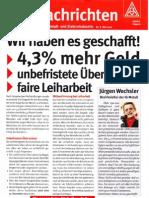 Tarifnachrichten - IGM