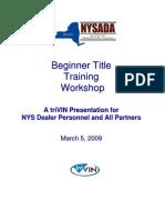 Titles Webinar Handouts