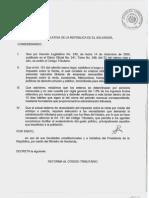 Decreto No 958 Reformas Al Codigo rio
