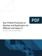 Whitepaper - Best Practices of Backup and Replication for VMware and Hyper-V