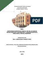 Monografia Estrategias Educativas Para El Uso de Nuevas Tecnologias