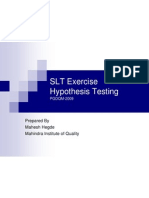 Hypothesis Test Excercise