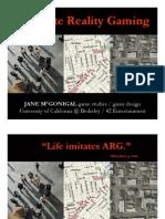 Jane McGonigal - ARG Game Studies