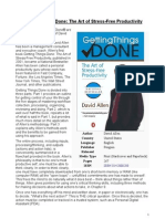 Getting Things Done (Summary) - David Allen
