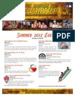 2012 Summer Teen Newsletter