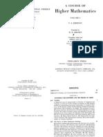 A Course of Higher Mathematics Vol 1 - V. Smirnov