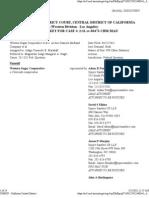 2012-05-25 Docket Report Western Sugar Cooperative v Archer Daniels-Midland