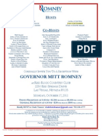 Reception for Romney for President