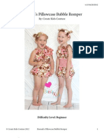 Pillowcase Bubble Romper