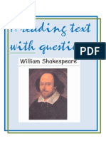 William Shakespeare. Reading Text With Questions.