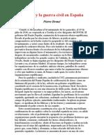 BROUE Trotsky y La Guerra Civil en Espana