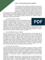 VALOR SOCIAL Y PSICOLÓGICO DEL DINERO