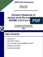 Dynamic Behavior of Jack-up ISOPE10