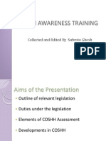 COSHH Awareness Training