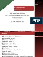 El Sistema Operativo Linux. Conceptos Basicos