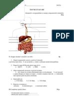 TEST DE EVALUARE Sistemul digestiv și Sistemul circulator