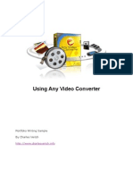 Online Manual Any Video Converter