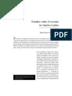 Estudios sobre el racismo  en América Latina