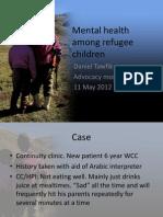 Psych Health in Refugee Children 05.11.2012