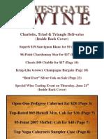 Westgate Wine Summer Catalog