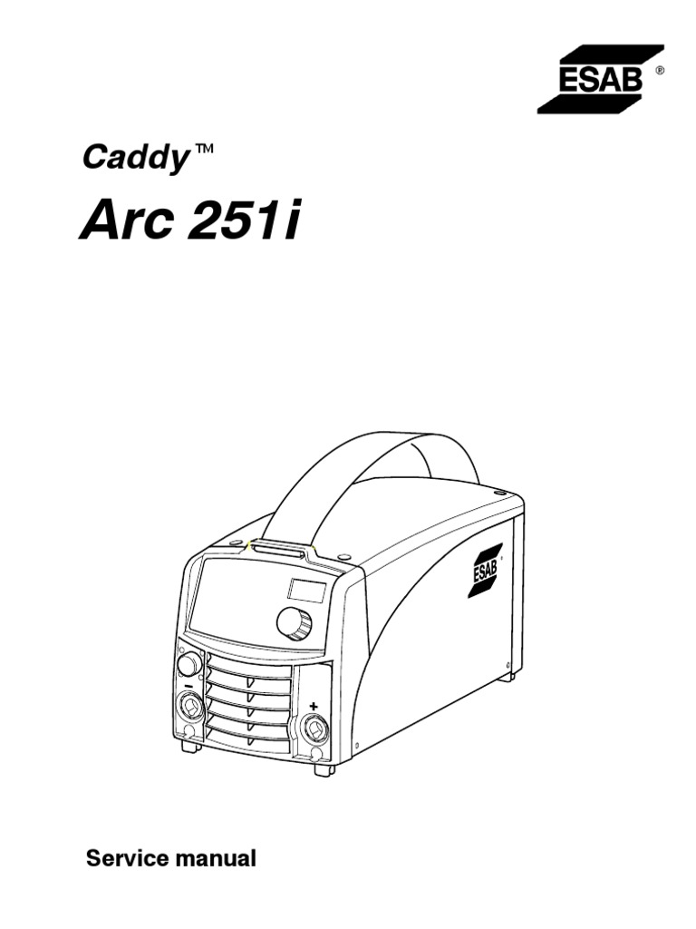 caddy arc 251i service manual