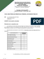 73- 2012 Convocatoria directores
