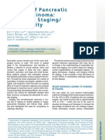 staging cancer pancreas RADIOLOGY