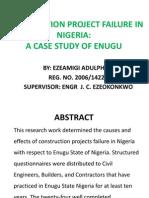 Construction Project Failure in Nigeria