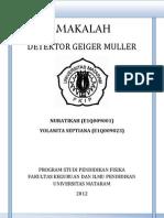 Detektor Geiger Muller