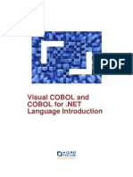 Visual COBOL and COBOL for .NET Language Introduction En